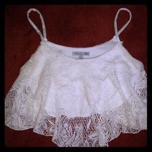 White Charlotte Russe crop top